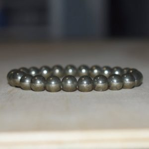 8mm Pyrite Bracelet, Healing Bracelet, Protection Bracelet, Chakra Bracelet, Mens Bracelet, Bracelets for Women, Pyrite Jewelry | Natural genuine Array bracelets. Buy handcrafted artisan men's jewelry, gifts for men.  Unique handmade mens fashion accessories. #jewelry #beadedbracelets #beadedjewelry #shopping #gift #handmadejewelry #bracelets #affiliate #ad