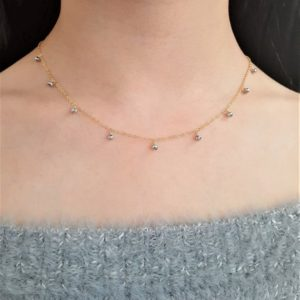 Shop Pyrite Necklaces! Silver Pyrite Necklace / Simple Gold Necklace / Minimal Bridal Necklace / Delicate Layering Necklace, Dainty Everyday Necklace | Natural genuine Pyrite necklaces. Buy handcrafted artisan wedding jewelry.  Unique handmade bridal jewelry gift ideas. #jewelry #beadednecklaces #gift #crystaljewelry #shopping #handmadejewelry #wedding #bridal #necklaces #affiliate #ad