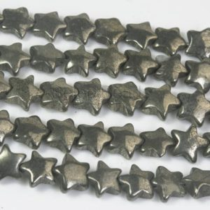 Shop Pyrite Beads! Natural Pyrite Star Beads – Puffy Celestial Stone Beads – Jewelry Beads And Stones – Jewellry Making Supplies – Sky Beads -15inch | Natural genuine beads Pyrite beads for beading and jewelry making.  #jewelry #beads #beadedjewelry #diyjewelry #jewelrymaking #beadstore #beading #affiliate #ad