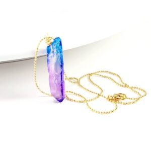 Shop Angel Aura Quartz Necklaces! First mothers day gift, Angel Aura Quartz Necklace, Aura Quartz, Raw Quartz Necklace, Quartz Point Necklace,spirit quartz necklace | Natural genuine Angel Aura Quartz necklaces. Buy crystal jewelry, handmade handcrafted artisan jewelry for women.  Unique handmade gift ideas. #jewelry #beadednecklaces #beadedjewelry #gift #shopping #handmadejewelry #fashion #style #product #necklaces #affiliate #ad