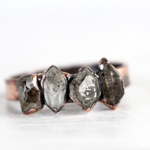 Shop Quartz Crystal Rings! Raw Crystal Ring – Wide Band Stone Ring – Multi Stone Crystal Ring – Quartz Ring   Natural genuine Quartz rings, simple unique handcrafted gemstone rings. #rings #jewelry #shopping #gift #handmade #fashion #style #affiliate #ad