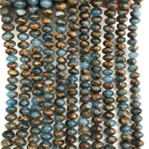Shop Quartz Crystal Rondelle Beads! 6x4mm Blue Mosaic Quartz Rondelle Beads, Gemstone Beads, Wholesale Beads | Natural genuine rondelle Quartz beads for beading and jewelry making.  #jewelry #beads #beadedjewelry #diyjewelry #jewelrymaking #beadstore #beading #affiliate #ad