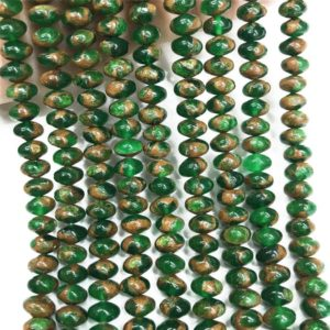 Shop Quartz Crystal Rondelle Beads! 8x5mm Mosaic Quartz Rondelle Beads, Gemstone Beads, Wholesale Beads | Natural genuine rondelle Quartz beads for beading and jewelry making.  #jewelry #beads #beadedjewelry #diyjewelry #jewelrymaking #beadstore #beading #affiliate #ad