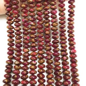 Shop Quartz Crystal Rondelle Beads! 8x5mm Red Mosaic Quartz Rondelle Beads, Gemstone Beads, Wholesale Beads | Natural genuine rondelle Quartz beads for beading and jewelry making.  #jewelry #beads #beadedjewelry #diyjewelry #jewelrymaking #beadstore #beading #affiliate #ad