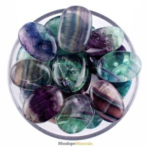 Shop Palm Stones! One 1 Rainbow Fluorite Smooth Stone, Rainbow Fluorite Palm Stone, Rainbow Fluorite Smooth Stones, Rainbow Fluorite Palm Stones, Rainbow   Natural genuine stones & crystals in various shapes & sizes. Buy raw cut, tumbled, or polished gemstones for making jewelry or crystal healing energy vibration raising reiki stones. #crystals #gemstones #crystalhealing #crystalsandgemstones #energyhealing #affiliate #ad