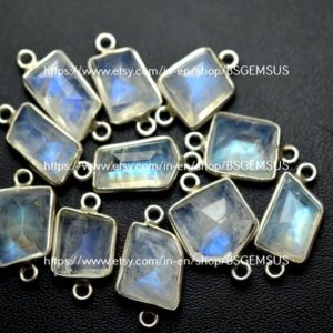 Shop Rainbow Moonstone Faceted Beads! 925 Sterling Silver, Rainbow Moonstone Faceted Slice Shape Pendant,5 Piece Of  18-19mm App. | Natural genuine faceted Rainbow Moonstone beads for beading and jewelry making.  #jewelry #beads #beadedjewelry #diyjewelry #jewelrymaking #beadstore #beading #affiliate #ad