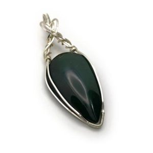 Shop Rainbow Obsidian Pendants! Rainbow Obsidian pendant, Wire obsidian jewel, Obsidian necklace, wire jewel, Made in Italy, Wire pendant, handmade | Natural genuine Rainbow Obsidian pendants. Buy crystal jewelry, handmade handcrafted artisan jewelry for women.  Unique handmade gift ideas. #jewelry #beadedpendants #beadedjewelry #gift #shopping #handmadejewelry #fashion #style #product #pendants #affiliate #ad