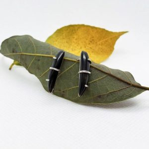 Shop Rainbow Obsidian Earrings! Rainbow Obsidian | Sterling Silver Earring Posts | Natural genuine Rainbow Obsidian earrings. Buy crystal jewelry, handmade handcrafted artisan jewelry for women.  Unique handmade gift ideas. #jewelry #beadedearrings #beadedjewelry #gift #shopping #handmadejewelry #fashion #style #product #earrings #affiliate #ad