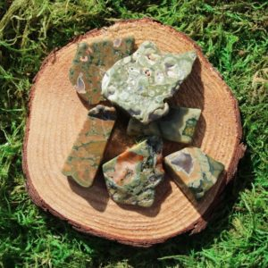 Shop Rainforest Jasper Stones & Crystals! Rainforest Rhyolite Free Form Polished Pieces | Natural genuine stones & crystals in various shapes & sizes. Buy raw cut, tumbled, or polished gemstones for making jewelry or crystal healing energy vibration raising reiki stones. #crystals #gemstones #crystalhealing #crystalsandgemstones #energyhealing #affiliate #ad