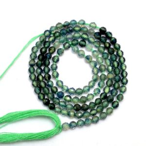 Shop Sapphire Round Beads! Rare AAA+ Green Sapphire 2mm-3mm Faceted Round Beads ~ Natural Multi Green Sapphire Precious Gemstone Loose Round Beads ~ 13inch Strand | Natural genuine round Sapphire beads for beading and jewelry making.  #jewelry #beads #beadedjewelry #diyjewelry #jewelrymaking #beadstore #beading #affiliate #ad