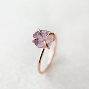 Shop Ametrine Jewelry! Raw ametrine ring | amethyst citrine solitaire | sterling silver 14k gold or rose gold fill | alternative engagement ring | gift for her | Natural genuine Ametrine jewelry. Buy handcrafted artisan wedding jewelry.  Unique handmade bridal jewelry gift ideas. #jewelry #beadedjewelry #gift #crystaljewelry #shopping #handmadejewelry #wedding #bridal #jewelry #affiliate #ad