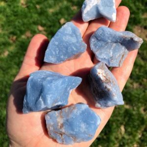 Raw Angelite Stone (Anhydrite) from Peru – Rough Stones – Raw Angelite Stone – Raw Angelite Crystal – Anhydrite Crystal – Anhydrite Stone | Natural genuine stones & crystals in various shapes & sizes. Buy raw cut, tumbled, or polished gemstones for making jewelry or crystal healing energy vibration raising reiki stones. #crystals #gemstones #crystalhealing #crystalsandgemstones #energyhealing #affiliate #ad