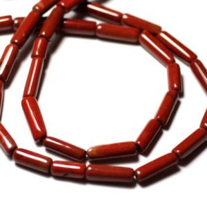10pc – stone beads – red Jasper Tubes 6-14mm – 8741140012288 | Natural genuine other-shape Gemstone beads for beading and jewelry making.  #jewelry #beads #beadedjewelry #diyjewelry #jewelrymaking #beadstore #beading #affiliate #ad