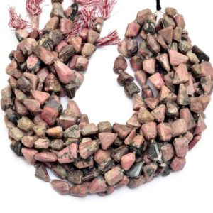 Shop Rhodochrosite Chip & Nugget Beads! Rhodochrosite Gemstone Nuggets Beads | Natural Rhodochrosite Semi Precious Gemstone 13mm-17mm Faceted Step Cut Tumbled Beads | 15inch Strand | Natural genuine chip Rhodochrosite beads for beading and jewelry making.  #jewelry #beads #beadedjewelry #diyjewelry #jewelrymaking #beadstore #beading #affiliate #ad