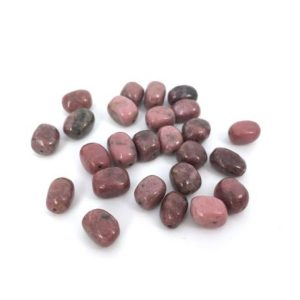 "Rhodonite Bead, Gemstone Bead, Natural Stone Bead, Nugget Bead, Semiprecious Stone, Loose Bead, Tumbled Stone, 6×8, 15"", 40cm, PS098 