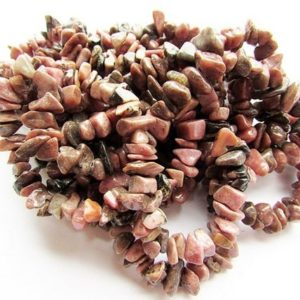 Rhodonite Chip Beads Natural Rhodonite Chips 8 – 10 mm Full Strand 35 inch Natural Stone Gemstone Chips Craft Supply Jewelry Supplies | Natural genuine chip Rhodonite beads for beading and jewelry making.  #jewelry #beads #beadedjewelry #diyjewelry #jewelrymaking #beadstore #beading #affiliate #ad