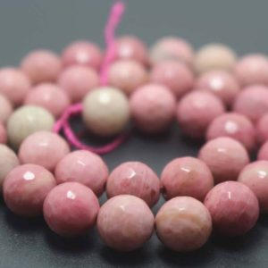 Shop Rhodonite Beads! 128 Faceted Pink Rhodonite Round Stone Beads,6mm/8mm/10mm/12mm Beads Supply,15 inches one starand | Natural genuine beads Rhodonite beads for beading and jewelry making.  #jewelry #beads #beadedjewelry #diyjewelry #jewelrymaking #beadstore #beading #affiliate #ad