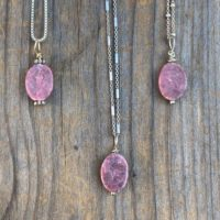 Chakra Jewelry / Rhodonite / Rhodonite Pendant / Rhodonite Necklace / Reiki Jewelry / Natural Stone / Sterling Silver | Natural genuine Gemstone jewelry. Buy crystal jewelry, handmade handcrafted artisan jewelry for women.  Unique handmade gift ideas. #jewelry #beadedjewelry #beadedjewelry #gift #shopping #handmadejewelry #fashion #style #product #jewelry #affiliate #ad