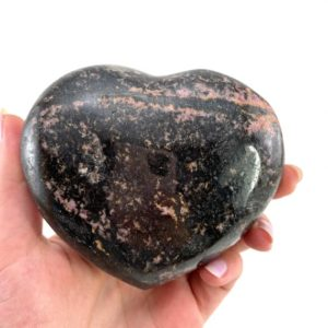 Shop Rhodonite Shapes! Rhodonite Heart, Crystal Heart, Rhodonite Palm Stone, Rhodonite palmstone, polished Rhodonite   Natural genuine stones & crystals in various shapes & sizes. Buy raw cut, tumbled, or polished gemstones for making jewelry or crystal healing energy vibration raising reiki stones. #crystals #gemstones #crystalhealing #crystalsandgemstones #energyhealing #affiliate #ad