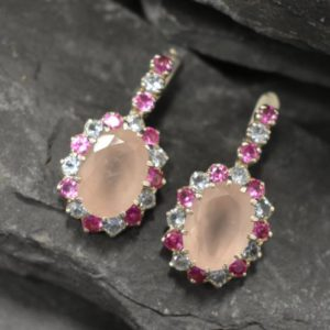 Shop Rose Quartz Earrings! Rose Quartz Earrings, Natural Rose Quartz, January Birthstone, Multistone earrings, Pink Vintage Earrings, Quartz Earrings, Silver Earrings   Natural genuine Rose Quartz earrings. Buy crystal jewelry, handmade handcrafted artisan jewelry for women.  Unique handmade gift ideas. #jewelry #beadedearrings #beadedjewelry #gift #shopping #handmadejewelry #fashion #style #product #earrings #affiliate #ad