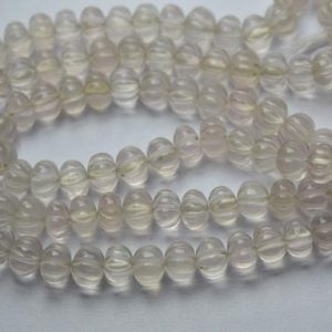 Shop Rose Quartz Rondelle Beads! 7 Inches Strand,Natural Rose Quartz Smooth Melon Shape Rondelles Size 7-8mm | Natural genuine rondelle Rose Quartz beads for beading and jewelry making.  #jewelry #beads #beadedjewelry #diyjewelry #jewelrymaking #beadstore #beading #affiliate #ad