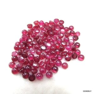 Shop Ruby Cabochons! 5 pieces 4mm Ruby Cabochon Round Gemstone, Natural Ruby Round Cabochon AAA Quality gemstone…. | Natural genuine stones & crystals in various shapes & sizes. Buy raw cut, tumbled, or polished gemstones for making jewelry or crystal healing energy vibration raising reiki stones. #crystals #gemstones #crystalhealing #crystalsandgemstones #energyhealing #affiliate #ad