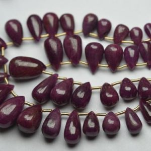 Shop Ruby Bead Shapes! 10 pcs,Finist Quality,Natural Ruby Smooth Drops Shaped Briolettes. 7-8mm | Natural genuine other-shape Ruby beads for beading and jewelry making.  #jewelry #beads #beadedjewelry #diyjewelry #jewelrymaking #beadstore #beading #affiliate #ad