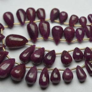 Shop Ruby Bead Shapes! 10 pcs,Finist Quality,Natural Ruby Smooth Drops Shaped Briolettes. 9-10mm | Natural genuine other-shape Ruby beads for beading and jewelry making.  #jewelry #beads #beadedjewelry #diyjewelry #jewelrymaking #beadstore #beading #affiliate #ad