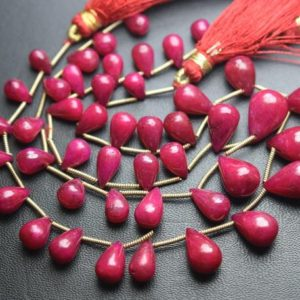 Shop Ruby Bead Shapes! 8 Inch strand,22 Stones,Finist Quality,Natural Dyed Ruby Smooth Drops Shaped Briolettes. 8-13mm | Natural genuine other-shape Ruby beads for beading and jewelry making.  #jewelry #beads #beadedjewelry #diyjewelry #jewelrymaking #beadstore #beading #affiliate #ad