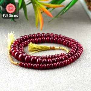 Shop Ruby Rondelle Beads! Natural Ruby 6-12mm Smooth Rondelle Shape Gemstone Beads / Approx. 101 Pieces on 19 Inch Long Strand / JBC-ET-156837 | Natural genuine rondelle Ruby beads for beading and jewelry making.  #jewelry #beads #beadedjewelry #diyjewelry #jewelrymaking #beadstore #beading #affiliate #ad