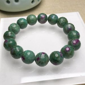 Shop Ruby Zoisite Bracelets! 12mm Charming Natural Faceted Ruby Zoisite Bracelet,Round beads,Jewelry Making Design Bracelet,Boutique Bracelet,Valentine Crystal Gift   Natural genuine Ruby Zoisite bracelets. Buy crystal jewelry, handmade handcrafted artisan jewelry for women.  Unique handmade gift ideas. #jewelry #beadedbracelets #beadedjewelry #gift #shopping #handmadejewelry #fashion #style #product #bracelets #affiliate #ad