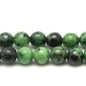 Shop Ruby Zoisite Bead Shapes! Wire 39cm 95pc env – stone beads – Ruby Zoisite balls 4 mm | Natural genuine other-shape Ruby Zoisite beads for beading and jewelry making.  #jewelry #beads #beadedjewelry #diyjewelry #jewelrymaking #beadstore #beading #affiliate #ad