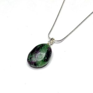Shop Ruby Zoisite Pendants! Ruby Zoisite Pendant with Chain | Natural genuine Ruby Zoisite pendants. Buy crystal jewelry, handmade handcrafted artisan jewelry for women.  Unique handmade gift ideas. #jewelry #beadedpendants #beadedjewelry #gift #shopping #handmadejewelry #fashion #style #product #pendants #affiliate #ad