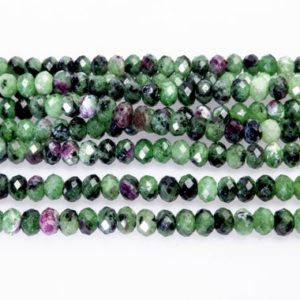Shop Rondelle Gemstone Beads! Natural Ruby Zoisite Rondelle Beads – Green And Red Zoisite Gemstone – Precious Gemstone Spacer Beads – 2x4mm Sepator Beads – 15 Inch | Natural genuine rondelle Gemstone beads for beading and jewelry making.  #jewelry #beads #beadedjewelry #diyjewelry #jewelrymaking #beadstore #beading #affiliate #ad