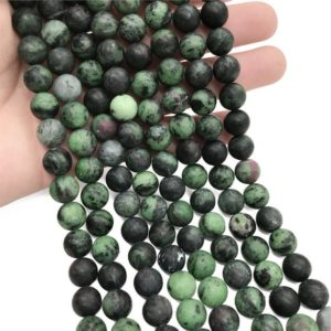 Shop Ruby Zoisite Round Beads! 10mm Matte Ruby Zoisite Beads, Round Gemstone Beads, Wholesale Beads | Natural genuine round Ruby Zoisite beads for beading and jewelry making.  #jewelry #beads #beadedjewelry #diyjewelry #jewelrymaking #beadstore #beading #affiliate #ad