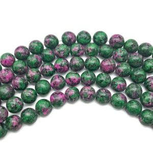 Shop Ruby Zoisite Round Beads! 8mm Ruby Zoisite Beads, Round Gemstone Beads, Wholesale Beads | Natural genuine round Ruby Zoisite beads for beading and jewelry making.  #jewelry #beads #beadedjewelry #diyjewelry #jewelrymaking #beadstore #beading #affiliate #ad