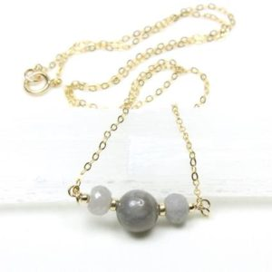 Shop Sapphire Pendants! Grey Sapphire Necklace Gold Filled natural gemstones beaded bar pendant choker September birthstone birthday holiday gift for her women 6204 | Natural genuine Sapphire pendants. Buy crystal jewelry, handmade handcrafted artisan jewelry for women.  Unique handmade gift ideas. #jewelry #beadedpendants #beadedjewelry #gift #shopping #handmadejewelry #fashion #style #product #pendants #affiliate #ad