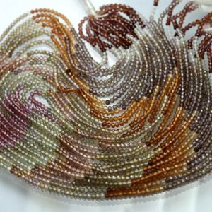 Shop Sapphire Rondelle Beads! 13 Inches Strand,AAA Quality,Natural Multi TUNDRA Sapphire Micro Facetes Rondelle,Size 2.60mm | Natural genuine rondelle Sapphire beads for beading and jewelry making.  #jewelry #beads #beadedjewelry #diyjewelry #jewelrymaking #beadstore #beading #affiliate #ad