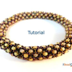 Shop Jewelry Making Tutorials! Seed Bead Patterns – Beaded Bracelet Patterns – Beading Tutorials and Patterns – Beadweaving Tutorial – Beaded Bangle – Chenille Bangle | Shop jewelry making and beading supplies, tools & findings for DIY jewelry making and crafts. #jewelrymaking #diyjewelry #jewelrycrafts #jewelrysupplies #beading #affiliate #ad