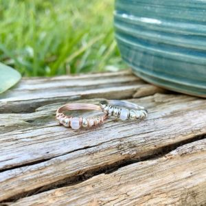Shop Selenite Rings! Selenite Ring, Crystal Ring, Wire Wrapped Ring for Women, Selenite Jewelry, Crystal Jewelry for Women | Natural genuine Selenite rings, simple unique handcrafted gemstone rings. #rings #jewelry #shopping #gift #handmade #fashion #style #affiliate #ad