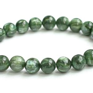 Shop Seraphinite Bracelets! Seraphinite Bracelet, 8mm Natural Genuine Not Treated, Not Dyed Color | Natural genuine Seraphinite bracelets. Buy crystal jewelry, handmade handcrafted artisan jewelry for women.  Unique handmade gift ideas. #jewelry #beadedbracelets #beadedjewelry #gift #shopping #handmadejewelry #fashion #style #product #bracelets #affiliate #ad