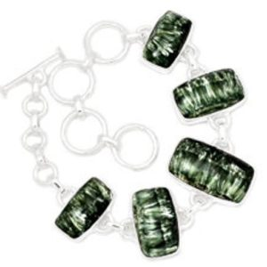 Shop Seraphinite Bracelets! Seraphinite Bracelet – Seraphinite Stone – Seraphinite Jewelry – Seraphinite Cabochon – Healing Crystals And Stones – Heart Chakra 53 | Natural genuine Seraphinite bracelets. Buy crystal jewelry, handmade handcrafted artisan jewelry for women.  Unique handmade gift ideas. #jewelry #beadedbracelets #beadedjewelry #gift #shopping #handmadejewelry #fashion #style #product #bracelets #affiliate #ad