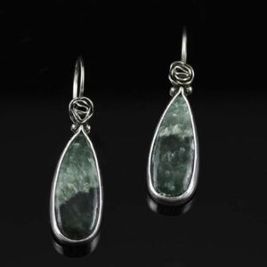 Shop Seraphinite Earrings! Seraphinite Earrings – OOAK – Rose Blossoms | Natural genuine Seraphinite earrings. Buy crystal jewelry, handmade handcrafted artisan jewelry for women.  Unique handmade gift ideas. #jewelry #beadedearrings #beadedjewelry #gift #shopping #handmadejewelry #fashion #style #product #earrings #affiliate #ad