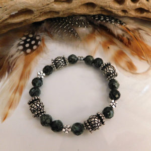 Shop Seraphinite Bracelets! Seraphinite Gemstone Stretch Stackable Bracelet | Natural genuine Seraphinite bracelets. Buy crystal jewelry, handmade handcrafted artisan jewelry for women.  Unique handmade gift ideas. #jewelry #beadedbracelets #beadedjewelry #gift #shopping #handmadejewelry #fashion #style #product #bracelets #affiliate #ad