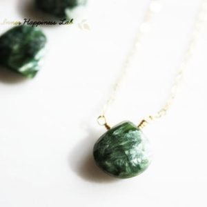 Shop Seraphinite Necklaces! Seraphinite Necklace,  14k Gold Filled, Sterling Silver, Angel Stone, Healing Stone | Natural genuine Seraphinite necklaces. Buy crystal jewelry, handmade handcrafted artisan jewelry for women.  Unique handmade gift ideas. #jewelry #beadednecklaces #beadedjewelry #gift #shopping #handmadejewelry #fashion #style #product #necklaces #affiliate #ad