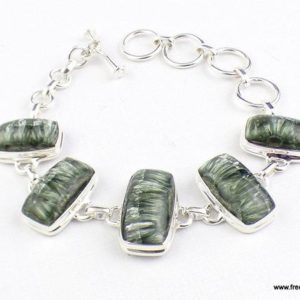 Shop Seraphinite Bracelets! Seraphinite Silver Bracelet 925, Seraphinit Jewels, Seraphinite Jewelry, Natural Stone, Wl55.21 | Natural genuine Seraphinite bracelets. Buy crystal jewelry, handmade handcrafted artisan jewelry for women.  Unique handmade gift ideas. #jewelry #beadedbracelets #beadedjewelry #gift #shopping #handmadejewelry #fashion #style #product #bracelets #affiliate #ad