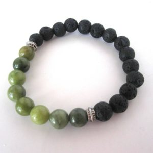 Shop Serpentine Bracelets! Green Serpentine Lava Stone Bracelet, Lava Stone Jewelry, 8mm Stretch Bracelet, Black Bracelet Jewelry, Diffuser Bracelet Diffuser Jewelry | Natural genuine Serpentine bracelets. Buy crystal jewelry, handmade handcrafted artisan jewelry for women.  Unique handmade gift ideas. #jewelry #beadedbracelets #beadedjewelry #gift #shopping #handmadejewelry #fashion #style #product #bracelets #affiliate #ad