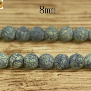 Shop Serpentine Round Beads! Serpentine,15 inch full strand Serpentine matte round beads,frosted beads 8mm | Natural genuine round Serpentine beads for beading and jewelry making.  #jewelry #beads #beadedjewelry #diyjewelry #jewelrymaking #beadstore #beading #affiliate #ad