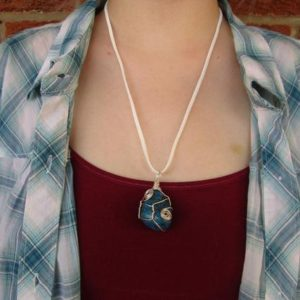 Shop Dumortierite Necklaces! Silver plated wire wrapped Dumortierite Necklace | Natural genuine Dumortierite necklaces. Buy crystal jewelry, handmade handcrafted artisan jewelry for women.  Unique handmade gift ideas. #jewelry #beadednecklaces #beadedjewelry #gift #shopping #handmadejewelry #fashion #style #product #necklaces #affiliate #ad