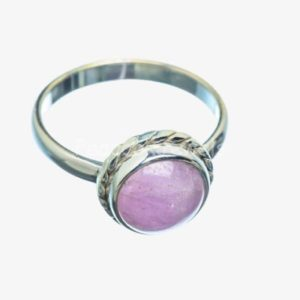 Shop Kunzite Rings! Simple Kunzite Ring, 925 Sterling Silver, Round Gemstone Jewelry, Pink Color Gemstone, Silver, Gift, Natural Gemstone, New Arrivals, Sale | Natural genuine Kunzite rings, simple unique handcrafted gemstone rings. #rings #jewelry #shopping #gift #handmade #fashion #style #affiliate #ad